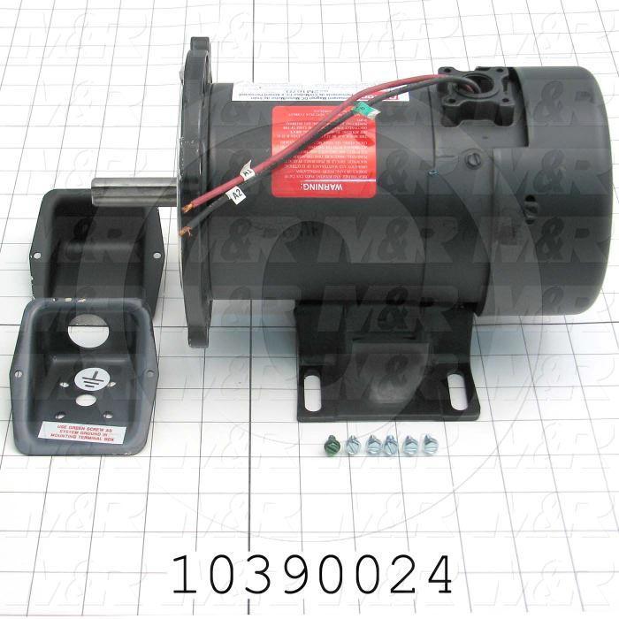 DC Motor, 1/4HP, 1725 RPM, 90VDC