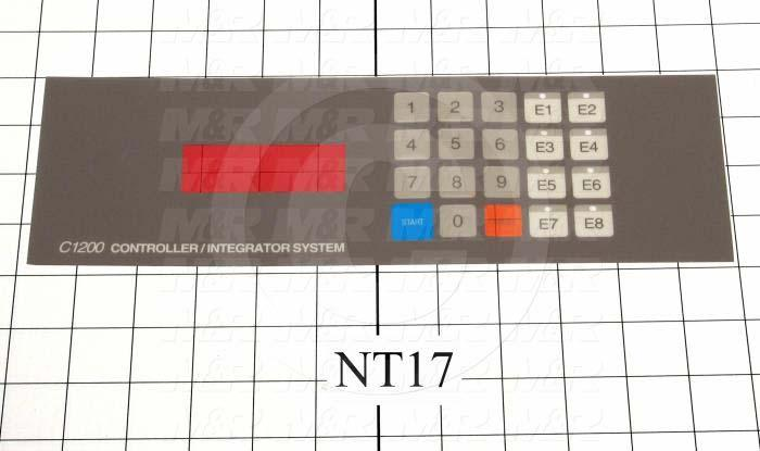"Decals & Documents, Control Panel Nameplate, 3-11/16""X 11-19/32"" Size, Used On 26-1KS Control Panel Assembly"