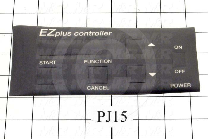 "Decals & Documents, Control Panel Nameplate, 3-5/16""X 7-15/32"" Size, Used On MSP2125"