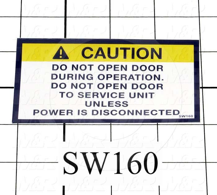 "Decals & Documents, Door Caution Label, 2-1/4""X 4"" Size"