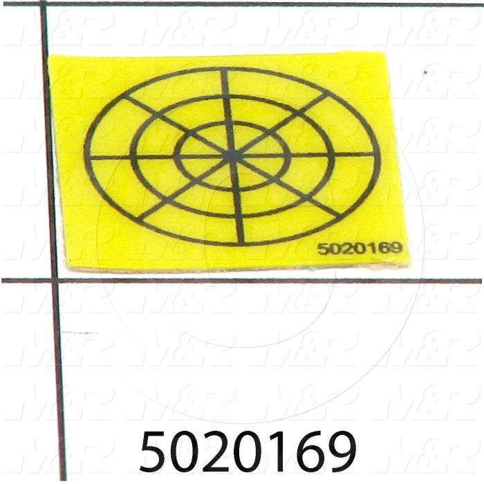 Decals & Documents, MICRO TARGET BLACK ON YELLOW, 7 Mil Velvet Lexan Size
