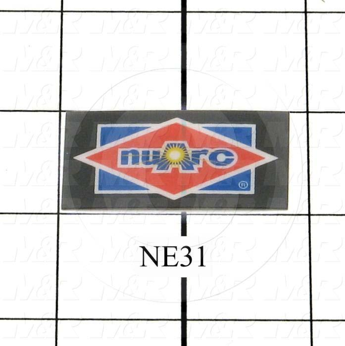 "Decals & Documents, Nuarc Logo, 61/64""X 1-13/16"" Size"
