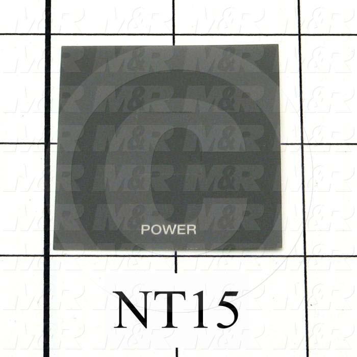"Decals & Documents, Power Modular Control Panel Nameplate, 3-7/16""X 3-11/16"" Size, Used On 26-1KS Control Panel Assembly"