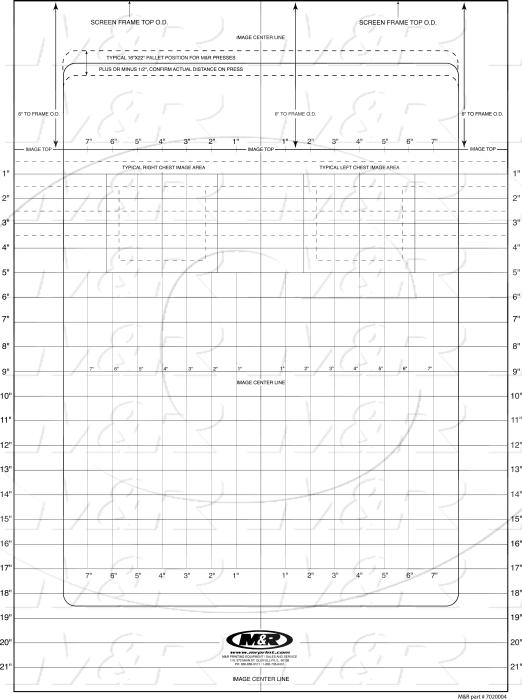 "Decals & Documents, Screen Placement Grid, 24"" X 32"" Sheet Size"