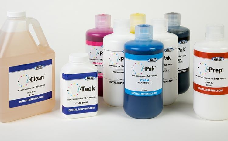 We offer a full range of supplies and accessories for i-Dot and i-Screen, including bulk DuPont? Artistri? Inks for all compatible digital-textile printers.