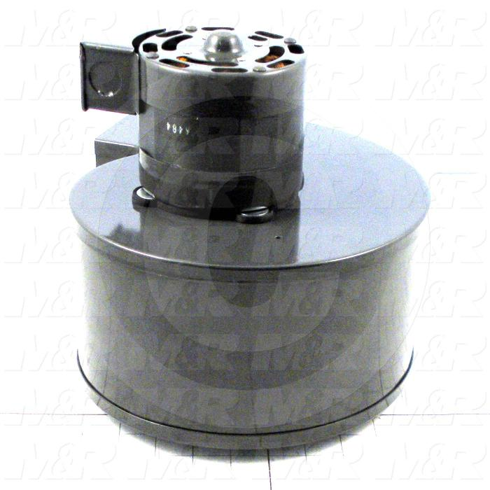 "Direct Drive, Wheel Diameter 6-1/4"", Max. RPM 1350, Voltage 230V 1PH 50Hz, With Thermal Protection, Temperature Rating 40C, Max. Air flow 500CFM, Bore Size 3/8 in., Motor HP 1/10 HP"