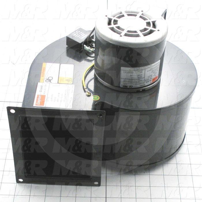 Direct Drive, Wheel Diameter 6-1/4, Max. RPM 1610, Voltage 220V 1PH, With Thermal Protection, Temperature Rating 104F, Max. Air flow 495CFM - Details