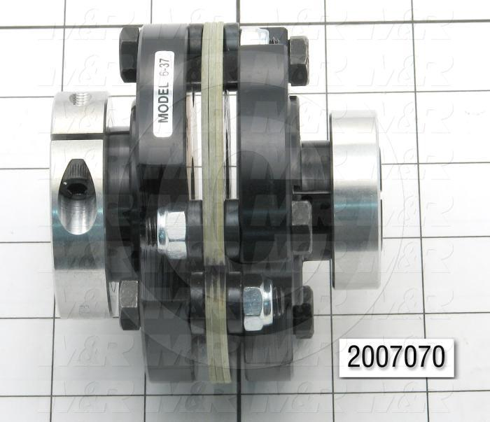 "Disc Type Coupling, Type Single Flex, Hub # 1 Bore 0.687"", Hub # 2 Bore 24 mm, Outside Diameter 3.75 in., Overall Length 3.40"", Clamping Style Collar, Disc Material Composite"