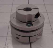 Disc Type Coupling, Type Single Flex, Hub # 1 Bore 8mm, Hub # 1 Outer Diameter 34mm, Hub # 2 Bore 14mm, Hub # 2  Outer Diameter 34mm, Overall Length 27.30mm, Clamping Style Clamp