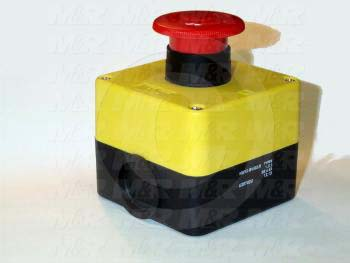 Emergency-Stop Switch, Station, Pushlock Turn Reset, 40mm Mushroom, 2NC - Details