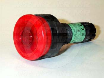 Emergency-Stop Switch, Twist Release, 22mm, 2NC, Red, 24VDC