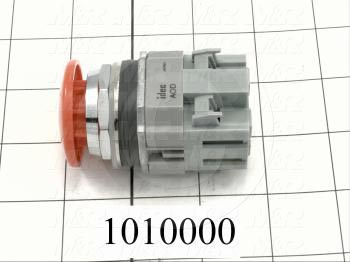 Emergency-Stop Switch, Unibody, Pushlock Turn Reset, 30mm, 40mm Mushroom, 1NC - Details