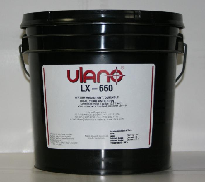 Emulsions, Red Color, 5 Gallon Size, Without Pre-Sensitized, Without Waterproof, Ulano Manufacturer