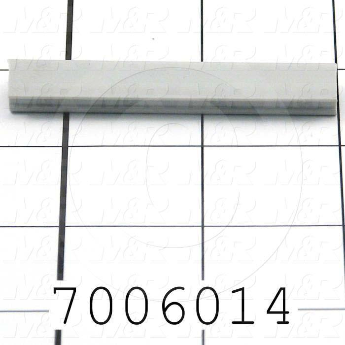 Extrusions and Accessories, T-Slot Cover, For 80/20 Extrusion, Plastic, Gray Color
