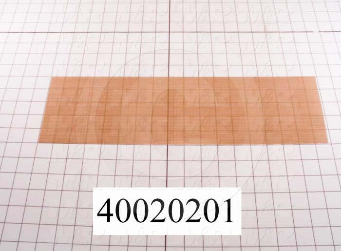 "Fabric, Teflon Coated Fiberglass Fabric, 0.003"", 5"", 17-1/2"", Natural Brown/Tan, 550'F"