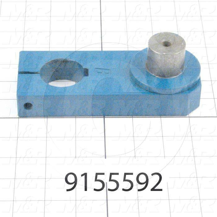 Fabricated Parts, 8 col. crank base weldment, 6.44 in. Length, 2.50 in. Width, Blue Coated Finish