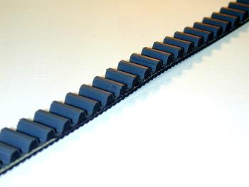Fabricated Parts, 8 mm Poly Chain Belt, 109.00 in. Length, 12 mm Width, Black Finish