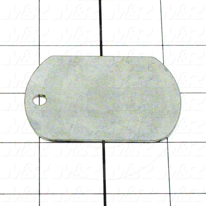 Fabricated Parts, Access Hole Cover, 2.50 in. Length, 1.75 in. Width, 0.050 in. Thickness