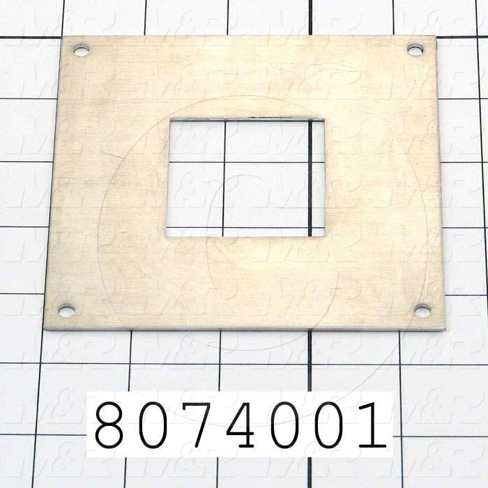 Fabricated Parts, Adapter Plate, 4.50 in. Length, 4.50 in. Width, 0.08 in. Thickness