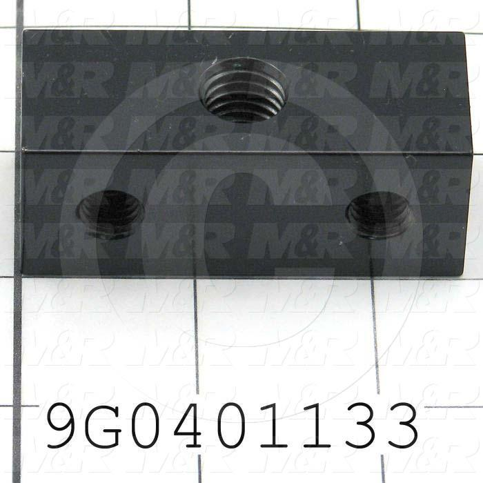 "Fabricated Parts, Adj Bracket ""A"", 2.50 in. Length, 1.00 in. Width, 1.00 in. Thickness, Satin Black Finish"