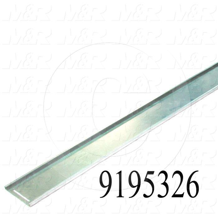 Fabricated Parts, Adjustable Opening Door, 71.31 in. Length, 7.00 in. Width, 0.625 in. Height, 16 GA Thickness