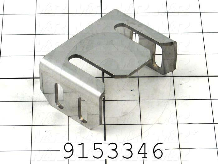 Fabricated Parts, Adjusted C-Shape Bracket, 3.27 in. Length, 2.25 in. Width, 1.45 in. Height