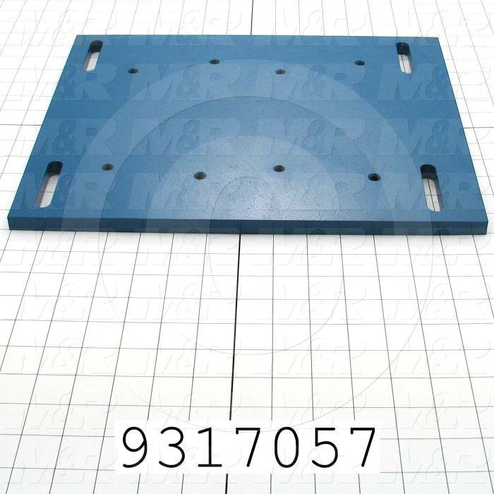 Fabricated Parts, Adjusted Motor Base, 14.50 in. Length, 12.00 in. Width, 0.63 in. Thickness