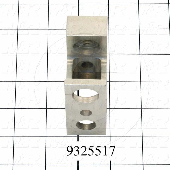"Fabricated Parts, Adjusting Block 3"", 3.00 in. Length, 2.50 in. Width, 1.25 in. Height, Nickel Plated Finish"