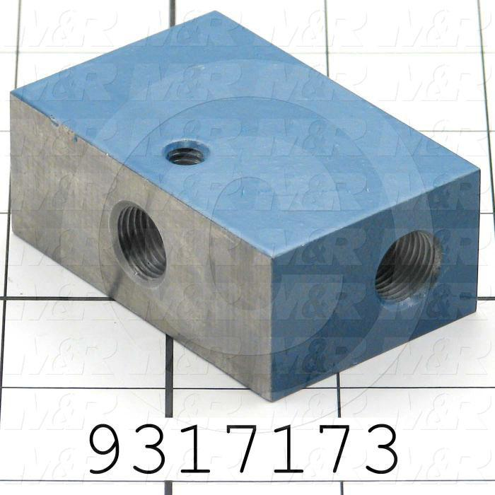 Fabricated Parts, Adjustment Block, 2.50 in. Length, 1.625 in. Width, 1.00 in. Height