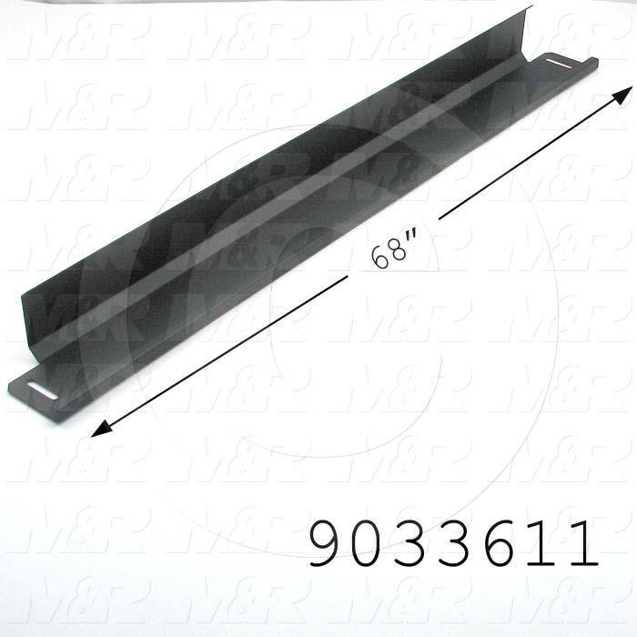 Fabricated Parts, Adjustment Door, 68.00 in. Length, 2.90 in. Width, 3.30 in. Height, Powder Coat Flat Black Finish