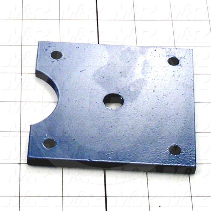 Fabricated Parts, Adjustment Plate, 4.00 in. Length, 4.00 in. Width, 0.25 in. Thickness