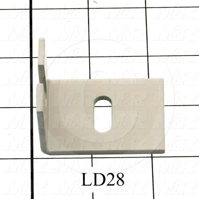 Fabricated Parts, Adjustment Screw Bracket, 2.12 in. Length, 1.50 in. Width, 1.37 in. Height, 11 GA Thickness