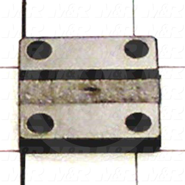 Fabricated Parts, Air Cylinder Base, 1.25 in. Length, 1.25 in. Width, 0.19 in. Thickness