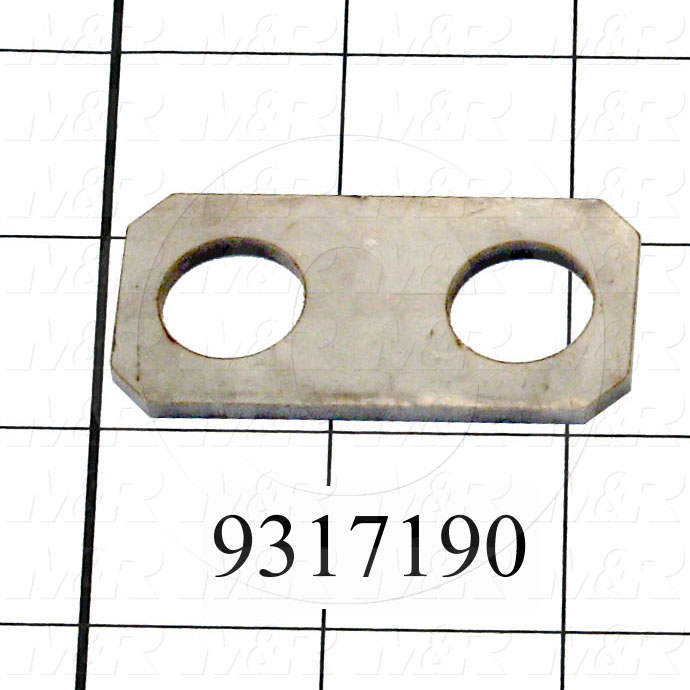 Fabricated Parts, Air Cylinder Plate, 2.25 in. Length, 1.13 in. Width, 0.12 in. Thickness