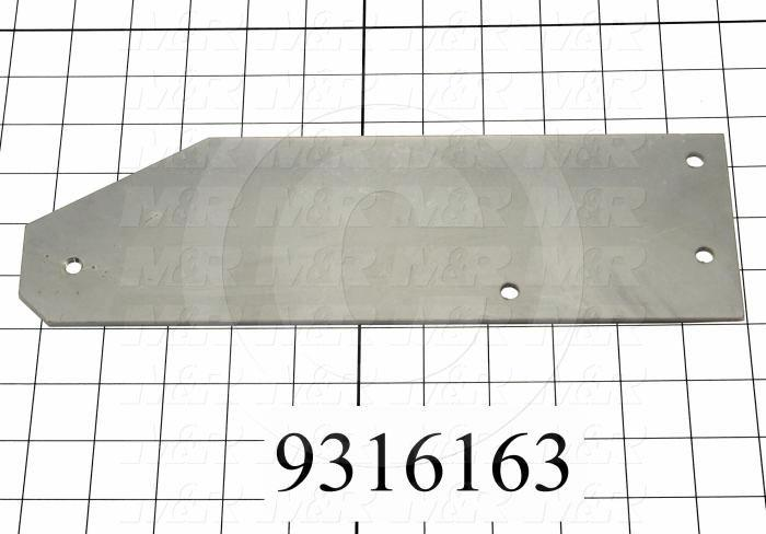 Fabricated Parts, Air Cylinder Valve Act Lever Bracket, 11.00 in. Length, 3.375 in. Width, 0.13 in. Thickness