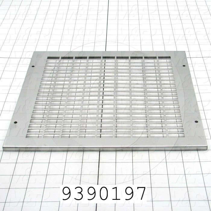 Fabricated Parts, Air Filter Grill, 12.63 in. Length, 11.63 in. Width, 0.33 in. Height, 18 GA Thickness