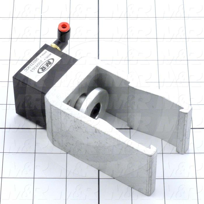 Fabricated Parts, Air Lock Clamp Assembly, 2.25 in. Width, 2.00 in. Height