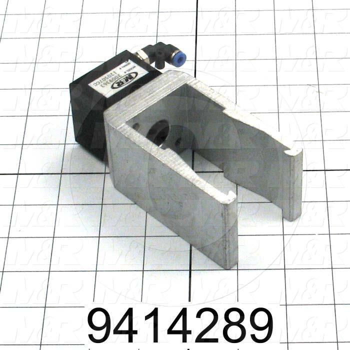 Fabricated Parts, Air Lock Clamp Assembly, 7.30 in. Length, 2.38 in. Width