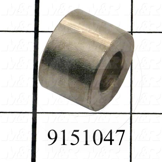 Fabricated Parts, Air Lock Spacer, 0.44 in. Length, 0.63 in. Diameter
