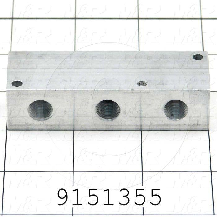 Fabricated Parts, Air Manifold, 3.00 in. Length, 1.00 in. Width, 0.75 in. Height