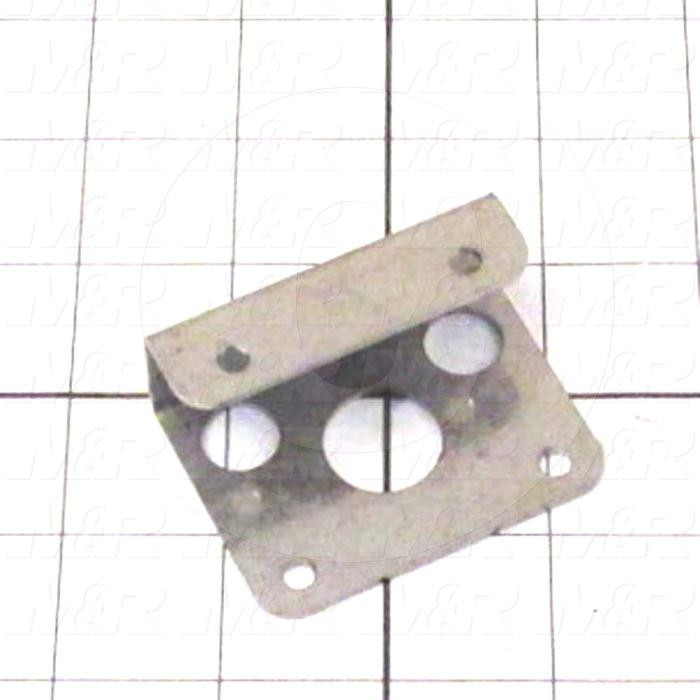 Fabricated Parts, Air Switch Bracket Du, 2.37 in. Length, 1.75 in. Width, 0.94 in. Height, 16 GA Thickness, As Material Finish