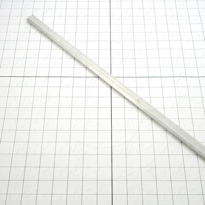 Fabricated Parts, Aluminum Insert, 0.75 in. Length, 0.13 in. Width, 0.050 in. Thickness
