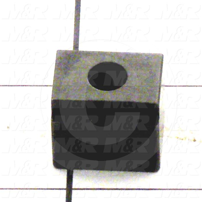 Fabricated Parts, Arm Stop, 0.75 in. Length, 0.63 in. Width, 0.63 in. Height, OC50008 Black Oxide Finish