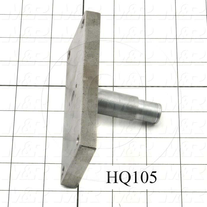 Fabricated Parts, Axle Assembly, 5.25 in. Length, 2.00 in. Width, 2.56 in. Height, 0.75 in. Diameter, Hard Chromium Finish