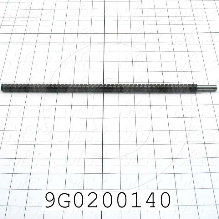 Fabricated Parts, Ball Screw, 14.00 in. Length, 0.50 in. Diameter