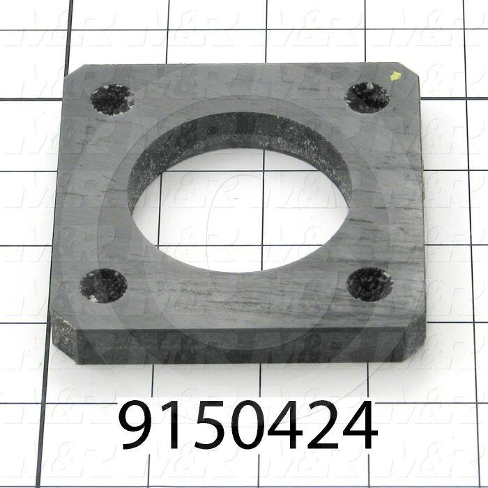 Fabricated Parts, Ball Screw Bumper, 3.50 in. Length, 3.50 in. Width, 0.50 in. Thickness