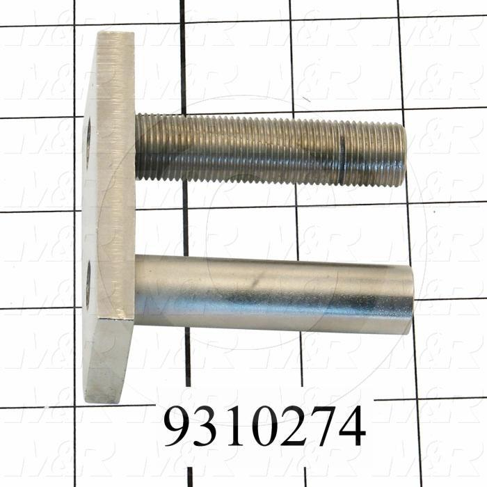 Fabricated Parts, Base Adjustment Weldment, 3.00 in. Length, 1.50 in. Width, 2.85 in. Height
