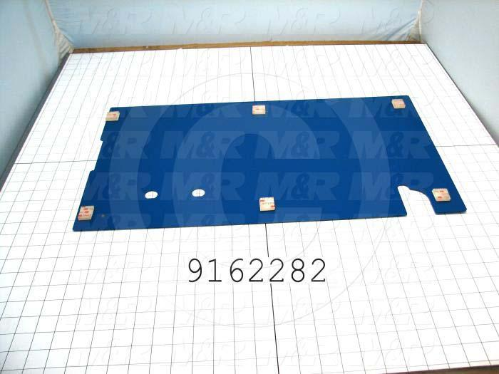 Fabricated Parts, Base Cover, 23.96 in. Length, 13.88 in. Width, 18 GA Thickness