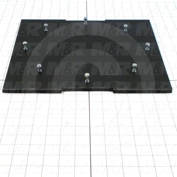Fabricated Parts, Base Rubber Mounting Plate Gluing, 13.19 in. Length, 13.19 in. Width, 0.36 in. Height
