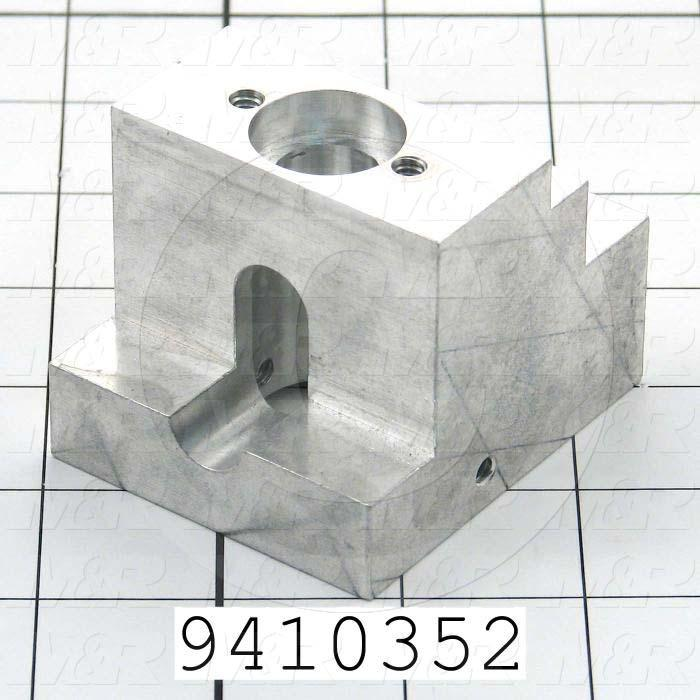 Fabricated Parts, Bearing Block, 2.65 in. Length, 2.05 in. Width, 2.25 in. Height